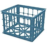 "Homz File Crate Storage Bin, 14"" X 15.5"" X 11"", Teal, 6-Pack"