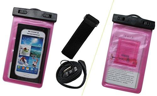 Meres universal Funda impermeable Bolsa para todos los smartphones bajo de 5,5 pulgadas subacuático Bolsa seca Touch Responsive sistema de Windows, impermeable sellado transparente, bolsa impermeable  Purple
