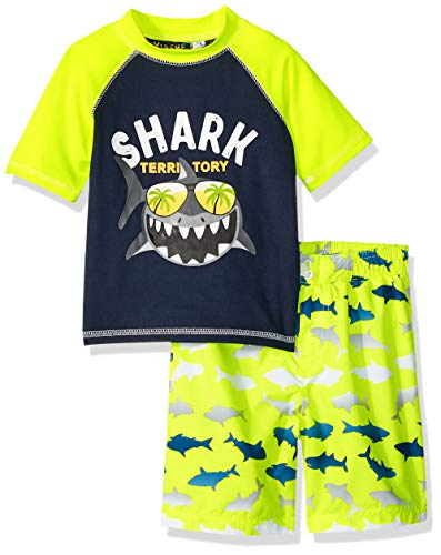 iXtreme Toddler Boys' Printed Rashguard Sets, Acid, -
