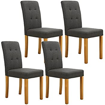 Amazon Com Lsspaid Classic Fabric Parson Dining Chairs