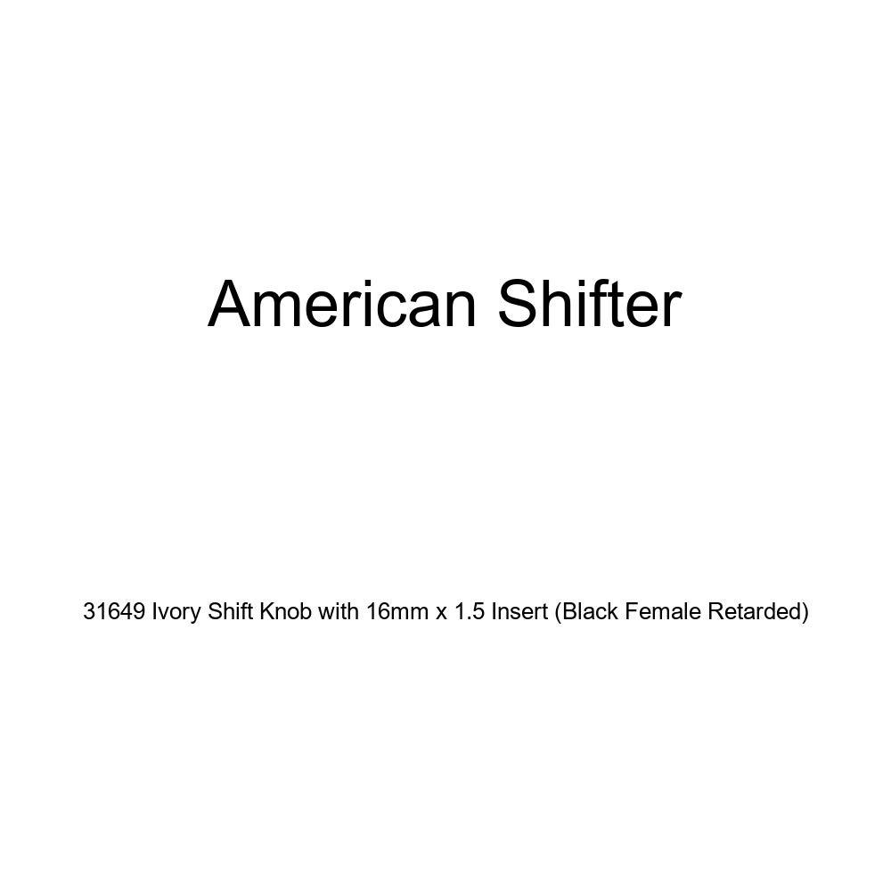 Black Female Retarded American Shifter 31649 Ivory Shift Knob with 16mm x 1.5 Insert