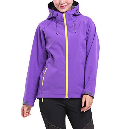 Zhuhaitf Outdoor Soft Shell Single Layer Jacket Fleece Ladies Jackets Coats Sports (Single Fleece Layer)