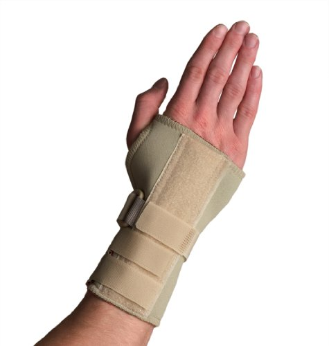 Medicine Thermoskin (Thermoskin Wrist Brace, Hand Brace, Carpal Tunnel Brace with Dorsal Stay, Beige, Right, Large)