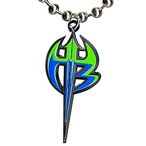 Amazon.com: WWE Jeff Hardy Purple & Green Logo Pendant ...  Wwe
