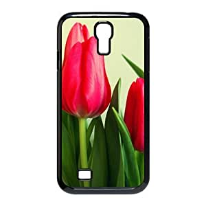 Painted Pink Tulips back phone Case cover samsung galaxy S4 I9500