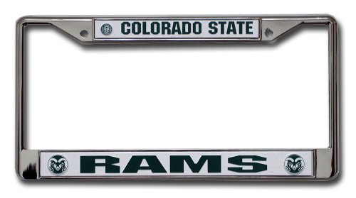 (Rico Industries NCAA Colorado State Rams Standard Chrome License Plate Frame)