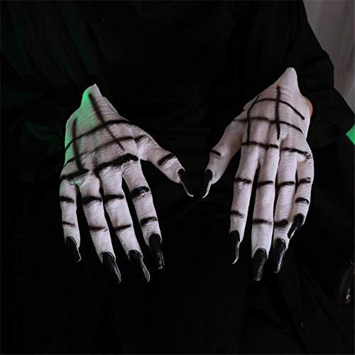 Boys Costume Accessories - Halloween Terror Props Gloves Nun Sister Cosplay Devil Handwear Women Skull Ghost Claws Performance - Costume Boys -