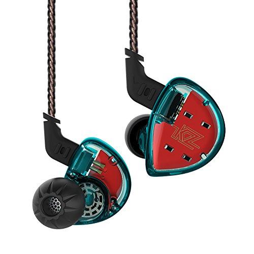 KZ ES4 Hybrid HiFi Bassy In-ear Headphones/Earphones/Earbuds (Blue without Mic) by KZ