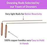 Dowsing Rods with Copper Handles Premium Quality