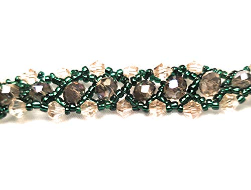 Serpentine Woven Beads Crystals Bracelet