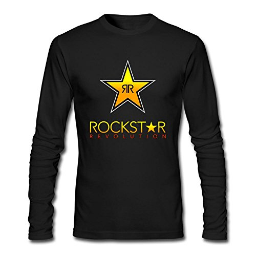 Futhure Men's Rockstar Energy Drink Long Sleeve DIY T Shirt
