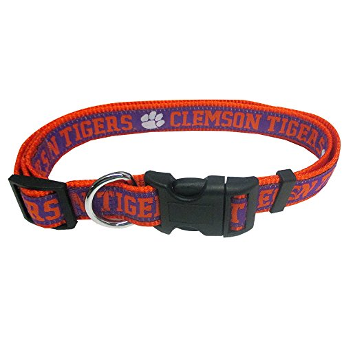 (Pets First Collegiate Pet Accessories, Dog Collar, Clemson Tigers, Large)