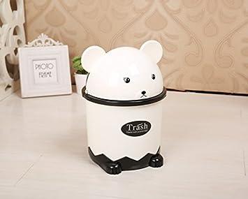Cartoon panda poubelle de bureau maison mini poubelle à clapet
