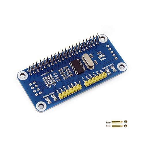 Waveshare Serial Expansion HAT for Raspberry Pi Zero/Zero W/Zero WH/2B/3B/3B+Onboard SC16IS752 2-ch UART 8 GPIOs I2C Interface 3.3V Stackable