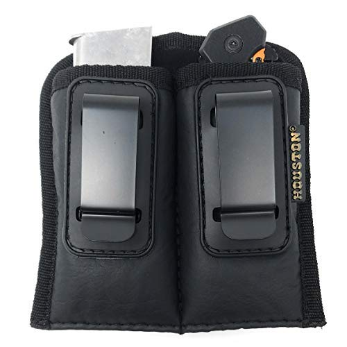Concealment Magazine and Multi Use Holster Inside The Waist IWB W Metal Clip Fits Most Single Stack 45 Cal. Like 1911 (Double Large Single Stack 9mm / .40 / .45 Cal)