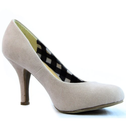 Up Beige Pumps Women's High Formal Round Party Sexy Toe Fashion Sv Casual Heel Dress Shoes nB0wOBvq1