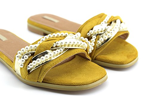 Modelisa - Sandalia Destanolada Mujer Amarillo