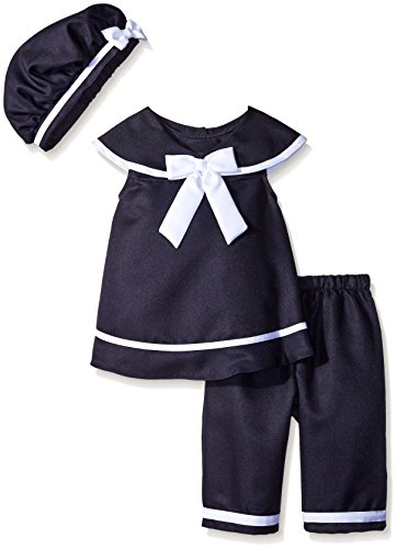 Rare Editions Little Girls' Toddler Navy Nautical Capri Set, Navy, 2T, Navy, 2T/6