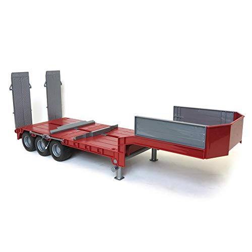 (1/16 Red Tri-axle Low Loader Trailer w/ Ramps 42823 )
