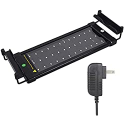 Xcellent Global 36 SMD LEDs Aquarium Light with Extendable Brackets, Fish Tank Light White and Blue LEDs, Size 11 to 19 inch