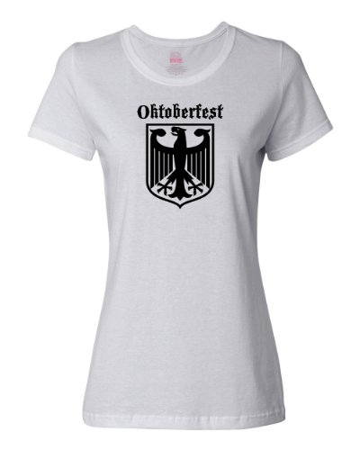 - ShirtLoco Women's Oktoberfest German Coat Of Arms T-Shirt, Ash 3XL
