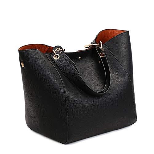 mano Shoppers de Mujer Fekete de clutches y Bolsos bolsos Carteras y DEERWORD bandolera hombro 4RBUqn