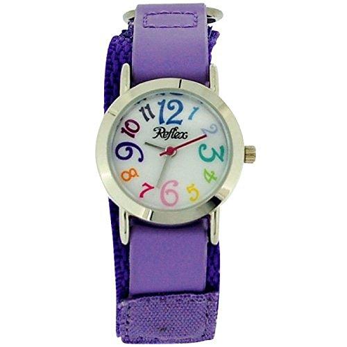 Price comparison product image Reflex Kids Purple Velcro Fabric Strap Watch KID-0073