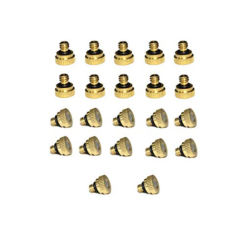 Balidao - 0.4mm 22pcs/Pack Orifice Thread 10/24 UNC Mosquito Water Stainless Steel Mist Nozzle, Homemade Micro Anti Drip Brass Water Misting Nozzles, Mister Nozzle For Outdoor Cooling System by Balidao (Image #5)