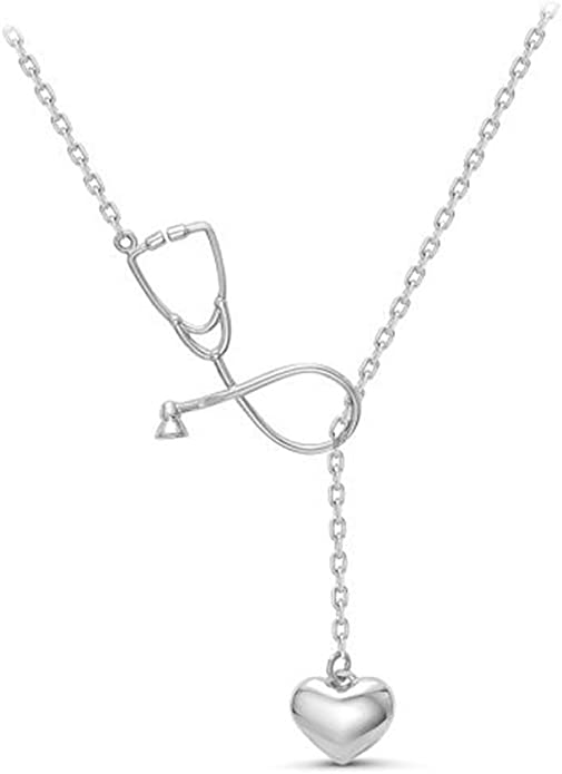 Silver Stethoscope Necklace