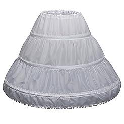 CEZOM Girls' 3 Hoops Petticoat Full Slip...