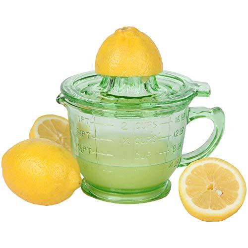 Trenton Gifts 16 Oz. Depression Style Glass Juicer | 2 Piece ()