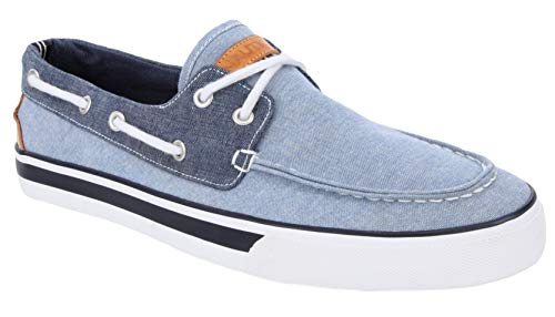Nautica Men's Galley Lace-Up Boat Shoe,Two-Eyelet Casual Loafer, Fashion Sneaker-Galley-Blue Navy-10.5