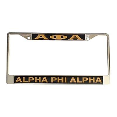 Alpha Phi Alpha Fraternity Metal License Plate Frame For Front Back of Car: Automotive