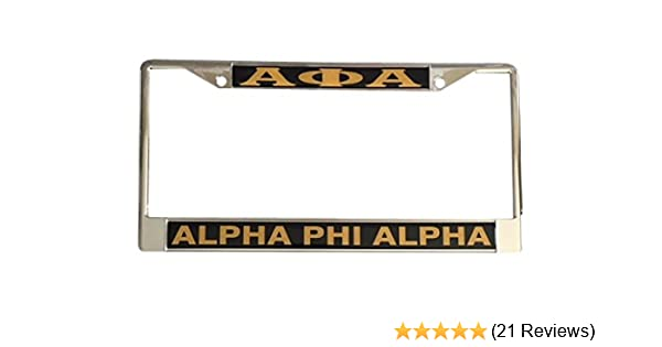 Car Tag - 7305 Alpha Phi Alpha Fraternity License Plate Car Tag For Front Back of Car Divine 9 Craftique