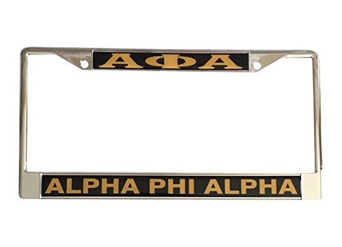 - Alpha Phi Alpha Fraternity Metal License Plate Frame For Front Back of Car