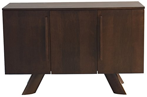 Saloom Furniture 3 Door Maple Buffet Cabinet with K-Base Foot, Harvest Finish