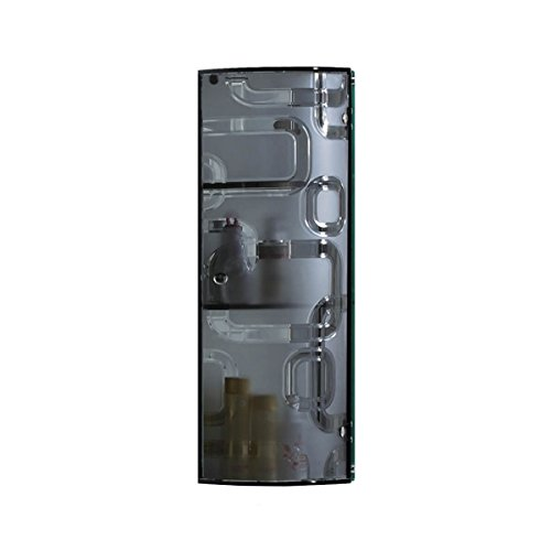 Fab Glass and Mirror Fgm-L-B130E2 Wall Mounted Bathroom Cabinet for Cosmetic Storage, Grey by Fab Glass and Mirror