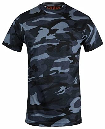 180d0eda Mens Camouflage camo t shirt (Medium, Blue): Amazon.co.uk: Clothing