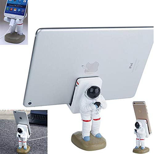 GOODKSSOP Unique Astronaut Style Solid Resin Durable Desktop Stand Holder Bracket Desk Mount Universal for iPhone X 7 8 Plus Samsung S7 Edge S8 iPad Air Pro Mini and Other Cell Mobile Phone Tablet PC