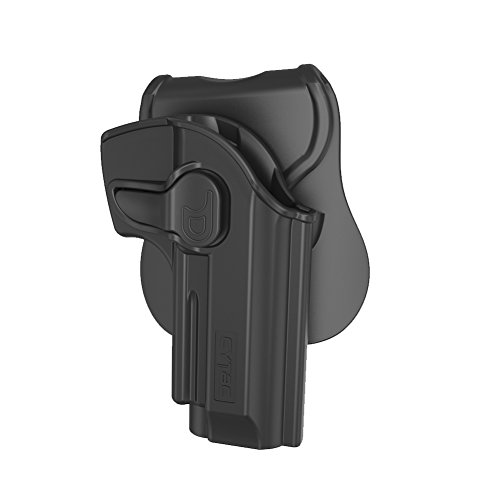 Beretta 92 FS Holster OWB, Outside The Waistband Concealed Carry Holsters Fit Beretta 92 92FS 96FS GSG92, Taurus PT92, Girsan Regard MC, Polymer Belt Holster with 360° Adjustable Paddle, Right Hand