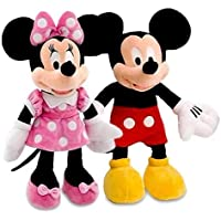 Slv Premium Kid's Fav Mickey Minnie Mouse Stuffed Soft Toys-Medium (30 cm)