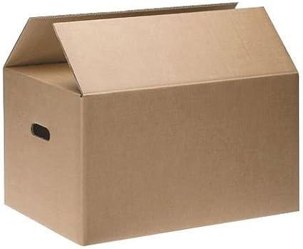 CAJAS DE CARTÓN CON ASAS (pack 30 uds) Muy resistentes 50X40X30 (Aptas para reutilizar): Amazon.es: Oficina y papelería