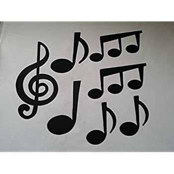 Amazon.com: Musical Notes Set of 7 Metal Wall Art Music Decor ...