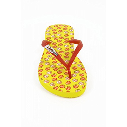 Flops Gelb Mädchen Cola Coca Giallo TAMPINHAS Flip CCA0595 Damen tBxHcwqZf