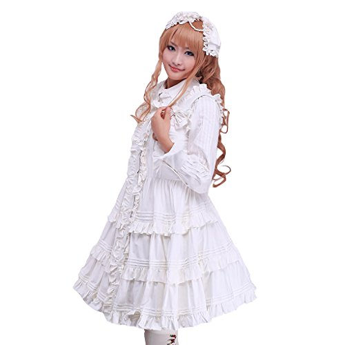 CosplayDiy Wome's Strapless Anime Lolita Dress White