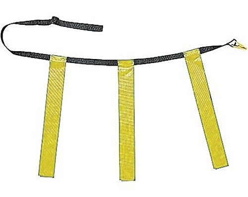 Martin Flag Belt - New Martin Dozen (12) Flag Football Quick Release Buckle Web Belts with 3 Flags (Yellow, Adult)