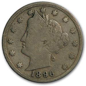 1896 Liberty Head V Nickel Fine Nickel Fine for sale  Delivered anywhere in USA