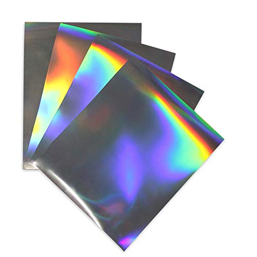 Laser Holographic HTV Iron on Heat Transfer Vinyl Film for T-Shirts 10x12 Inches