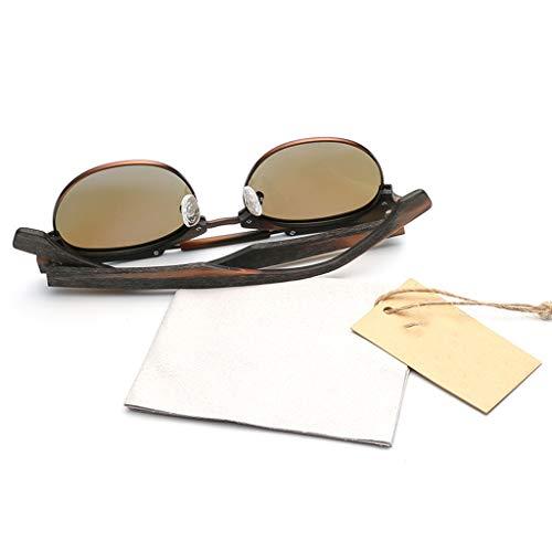 Soleil soleil Confortable Lunettes Lunettes Coussin Rondes Lunettes polarisées de Bambou Couleur Classiques Silicone Gray Brown avec UV400 Protection en de Nez de Actif AtqUTdnT