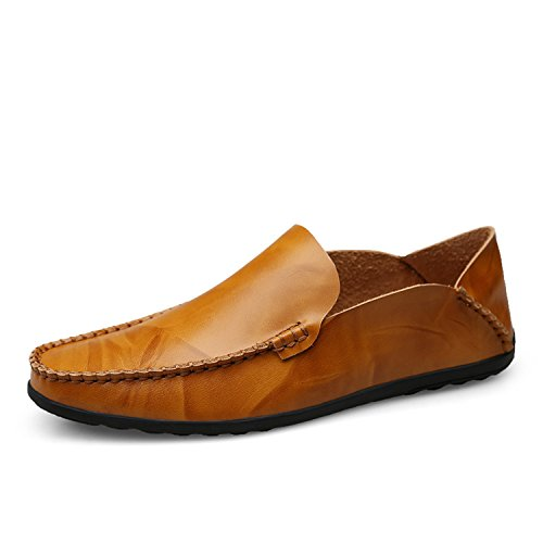 Flats Respirant Slip Esthesis on Conduite en Hommes Mocassins Marron Chaussures Chaussures Mocassins Cuir Clair Casual Véritable wvwPR